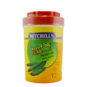 mitchell`s green chilli pickle in oil